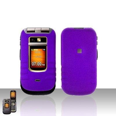 Purple Cover Case Snap on Protector for Motorola Brute i680