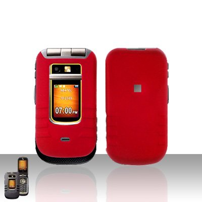 Red Cover Case Snap on Protector for Motorola Brute i680
