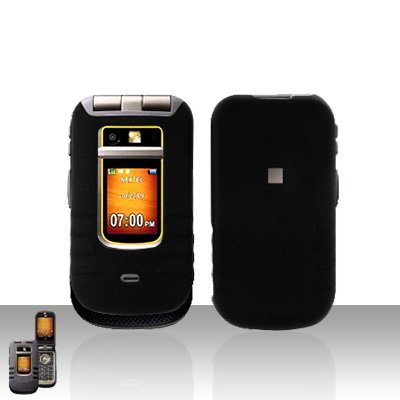 Black Cover Case Snap on Protector for Motorola Brute i680