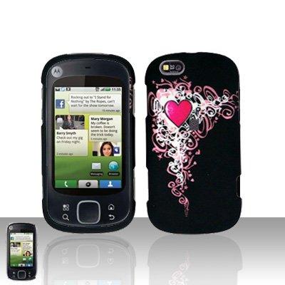 Heart Cover Case Snap on Protector for Motorola Cliq XT