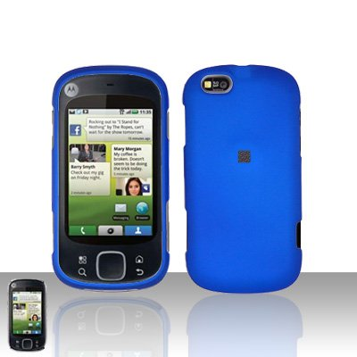 Blue Cover Case Snap on Protector for Motorola Cliq XT