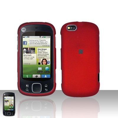 Red Cover Case Snap on Protector for Motorola Cliq XT