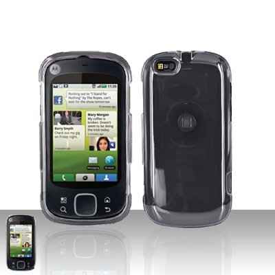 Clear Cover Case Snap on Protector for Motorola Cliq XT