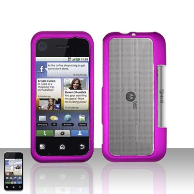 Purple Cover Case Snap on Protector for Motorola Backflip MB300