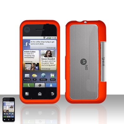 Orange Cover Case Snap on Protector for Motorola Backflip MB300