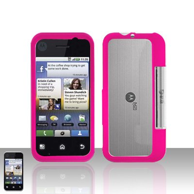 Pink Cover Case Snap on Protector for Motorola Backflip MB300