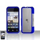 Blue Cover Case Snap on Protector for Motorola Backflip MB300