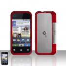 Red Cover Case Snap on Protector for Motorola Backflip MB300