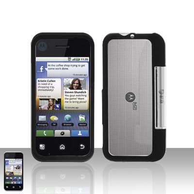 Black Cover Case Snap on Protector for Motorola Backflip MB300