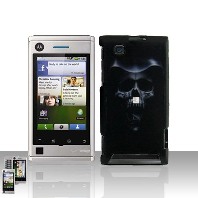Hooded Skull Cover Case Snap on Protector for Motorola Devour A555