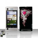 Heart Cover Case Snap on Protector for Motorola Devour A555