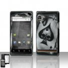 Spade Skull Cover Case Snap on Protector for Motorola Droid A855