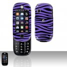 Purple Zebra Hard Case Snap on Cover for Motorola Evoke QA4 Alltel