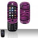 Pink Black Zebra Hard Case Snap on Cover for Motorola Evoke QA4 Alltel
