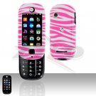 Pink White Zebra Case Snap on Cover for Motorola Evoke QA4 Alltel