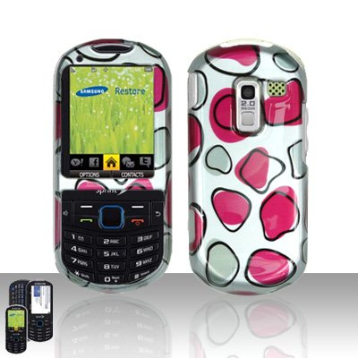 Pink Patches Design Cover Case Snap on Protector for Samsung Exclaim 2 Restore M570