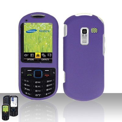 Purple Cover Case Snap on Protector for Samsung Exclaim 2 Restore M570