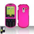 Pink Cover Case Snap on Protector for Samsung Exclaim 2 Restore M570