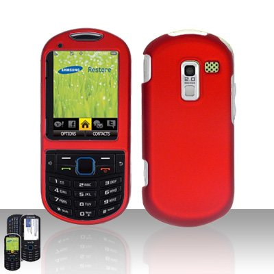 Red Cover Case Snap on Protector for Samsung Exclaim 2 Restore M570