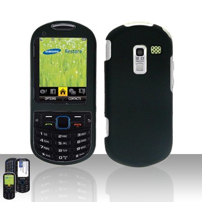 Black Cover Case Snap on Protector for Samsung Exclaim 2 Restore M570