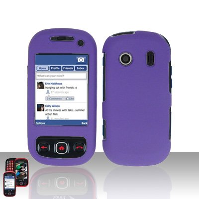 Purple Cover Case Snap on Protector for Samsung Seek M350
