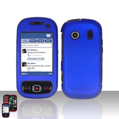 Blue Cover Case Snap on Protector for Samsung Seek M350