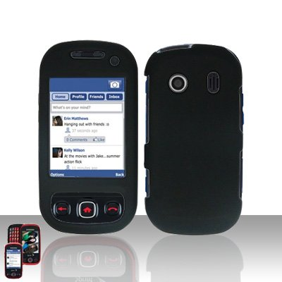 Black Cover Case Snap on Protector for Samsung Seek M350