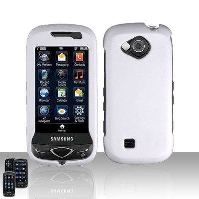 White Cover Case Snap on Protector for Samsung Reality U820