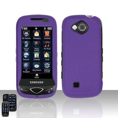 Purple Cover Case Snap on Protector for Samsung Reality U820