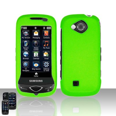 Neon Green Cover Case Snap on Protector for Samsung Reality U820