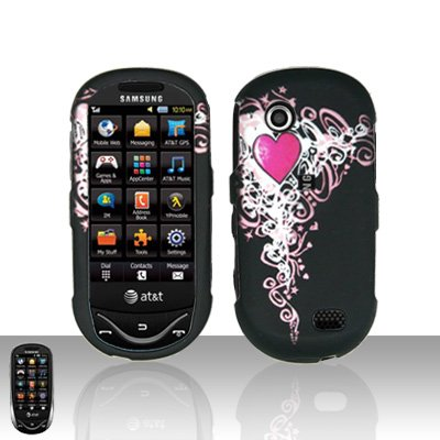 Heart Cover Case Snap on Protector for Samsung Sunburst A697