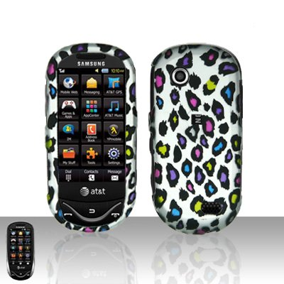 Colorful Leopard Cover Case Snap on Protector for Samsung Sunburst A697