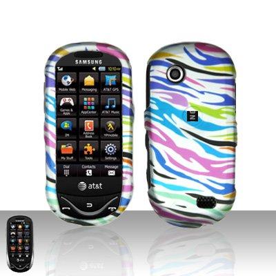 Rainbow Zebra Cover Case Snap on Protector for Samsung Sunburst A697