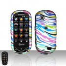 Rainbow Zebra Cover Case Snap on Protector for Samsung Sunburst A697