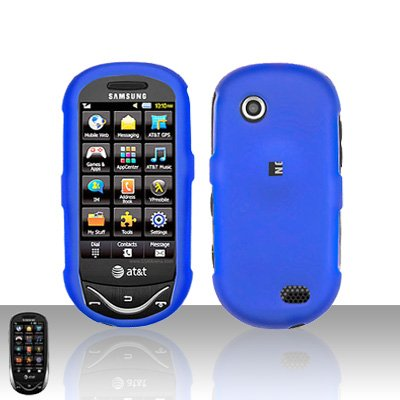 Blue Cover Case Snap on Protector for Samsung Sunburst A697