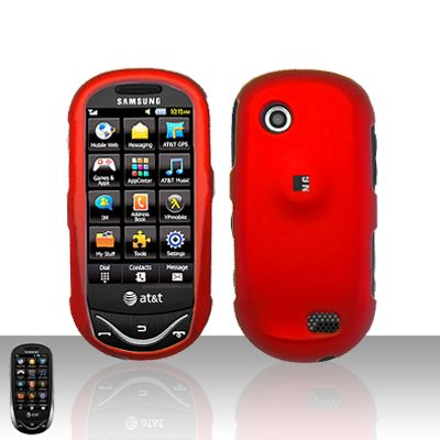Red Cover Case Snap on Protector for Samsung Sunburst A697