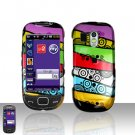 Colorful Stripes Design Cover Case Snap on Protector for Samsung Calibur R850