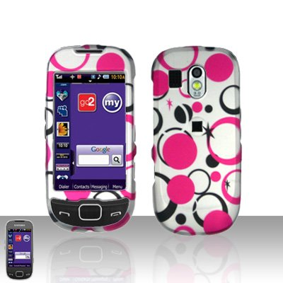 Pink Dots Cover Case Snap on Protector for Samsung Calibur R850
