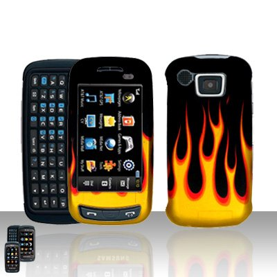 Flames Cover Case Snap on Protector for Samsung Impression A877