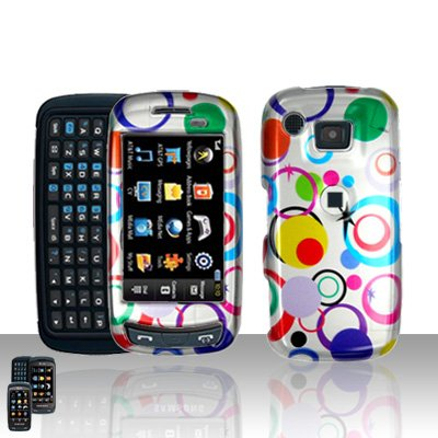 Colorful Dots Cover Case Snap on Protector for Samsung Impression A877