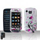 Pink Flowers Cover Case Snap on Protector for Samsung Impression A877