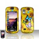 Yellow Flowers Cover Case Snap on Protector for Samsung Solstice A887