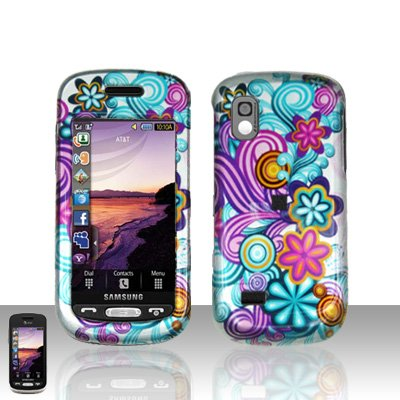 Colorful Flowers Cover Case Snap on Protector for Samsung Solstice A887