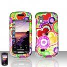 Colorful Hearts Cover Case Snap on Protector for Samsung Solstice A887
