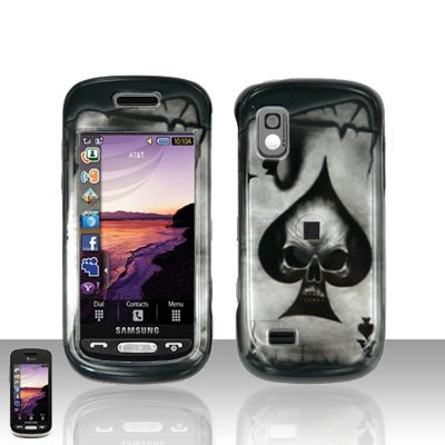 Spade Skull Cover Case Snap on Protector for Samsung Solstice A887