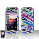 Rainbow Zebra Cover Case Snap on Protector for Samsung Solstice A887