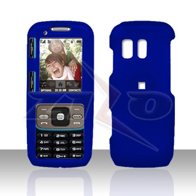 Blue Cover Case Snap on Protector for Samsung Rant M540