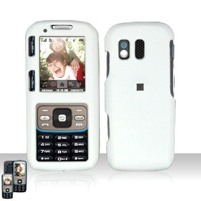 White Cover Case Snap on Protector for Samsung Rant M540