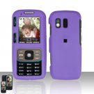 Purple Cover Case Snap on Protector for Samsung Rant M540