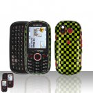 Checkered Design Cover Case Snap on Protector + Car Charger for Samsung Intensity U450